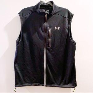Under Armour XL Black Reflective Zip Up Vest